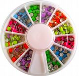 6 Candy Colour round 3mm Decoration